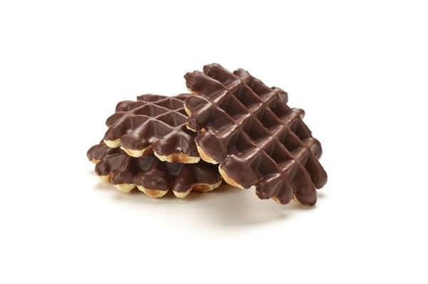 Vanillewafels met chocolade